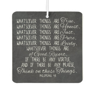 Think on These Things Christian Bible Scripture Car Air Freshener
