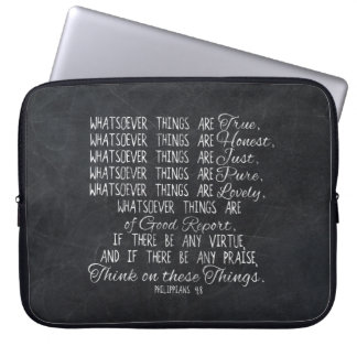 Think on These Things Christian Bible Scripture Computer Sleeve