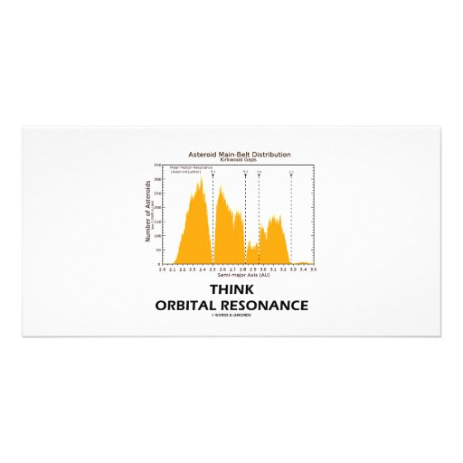 Think Orbital Resonance (Astronomy) Personalized Photo Card