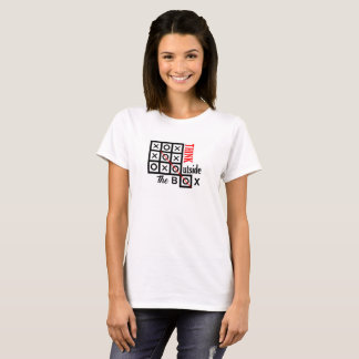 think outside box text message smart tic tac toe T-Shirt