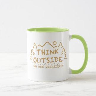 Think Outside, No Box Required Mug