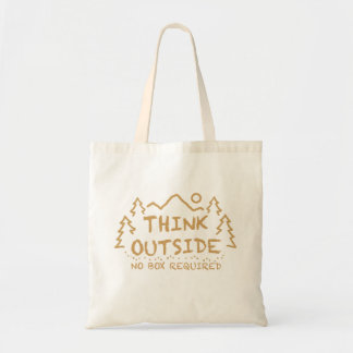 Think Outside, No Box Required Tote Bag