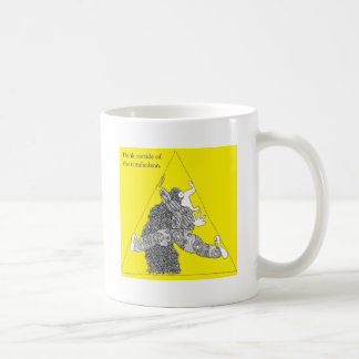 Think outside of the tetrahedron. coffee mugs