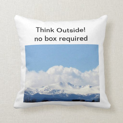 Think Outside Pillow