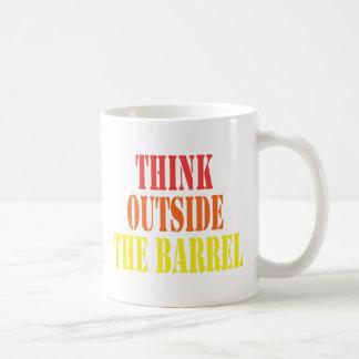 Think Outside The Barrel Basic White Mug