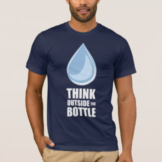Think Outside the Bottle - Men's Navy T-Shirt
