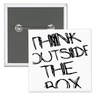 Think Outside the Box 15 Cm Square Badge