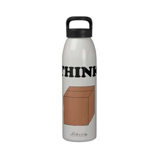 """Think Outside the Box"" 24oz Waterbottle Drinking Bottles"