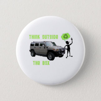 Think Outside the Box! 6 Cm Round Badge