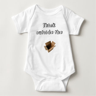 """Think outside the box"" baby clothing Tshirt"