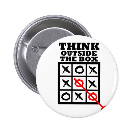 Think Outside The Box Pinback Buttons