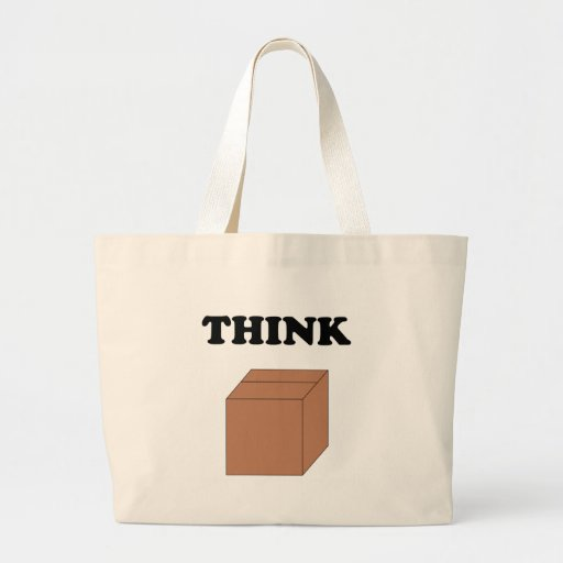 Think Outside the Box Canvas Bag