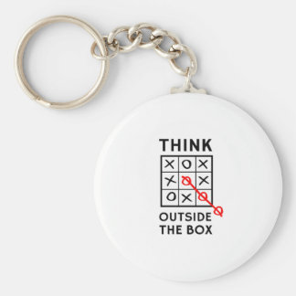 Think Outside The Box Basic Round Button Key Ring