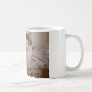 Think outside the box... basic white mug