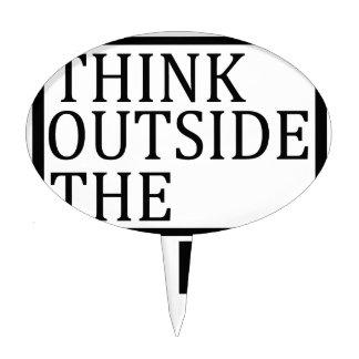 Think Outside The Box Cake Picks
