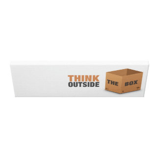 Think outside the Box Stretched Canvas Print