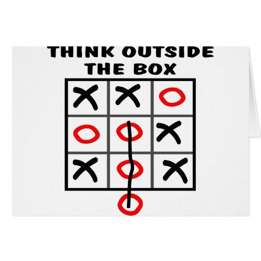 Think Outside The Box Card