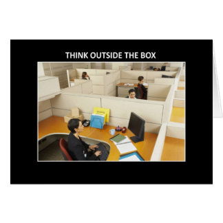 think-outside-the-box greeting card