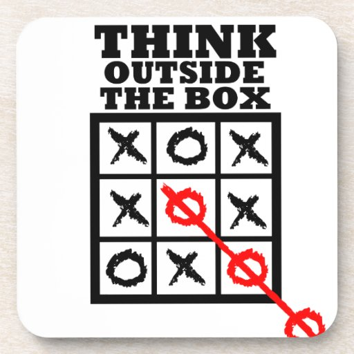 Think Outside The Box Drink Coasters