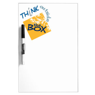 Think Outside the Box custom message board Dry Erase Board