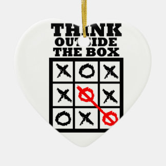 Think Outside The Box Ornaments