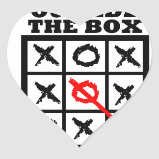 Think Outside The Box Heart Sticker