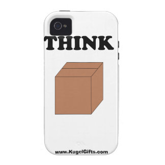 """""""Think Outside the Box"""" iPhone 4 Tough Case"""
