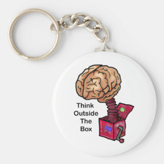 Think Outside the Box Key Ring