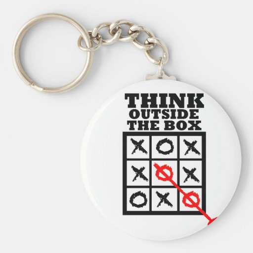 Think Outside The Box Key Chain