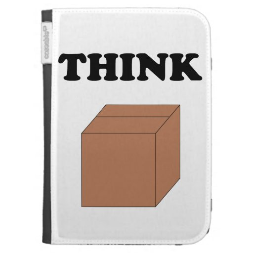"""Think Outside the Box"" Kindle Case"