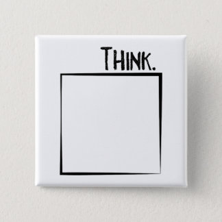 Think Outside The Box Literal Typography 15 Cm Square Badge
