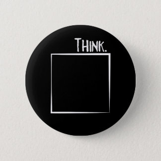 Think Outside The Box Literal Typography 6 Cm Round Badge