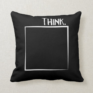 Think Outside The Box Literal Typography Cushion