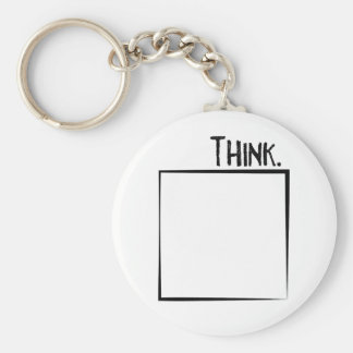 Think Outside The Box Literal Typography Key Ring