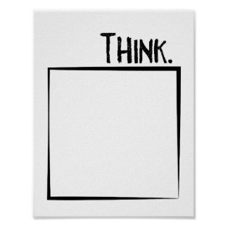 Think Outside The Box Literal Typography Poster