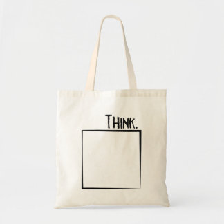 Think Outside The Box Literal Typography Tote Bag