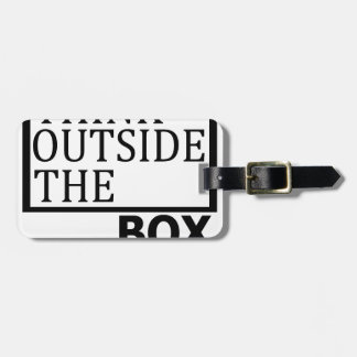 Think Outside The Box Luggage Tag