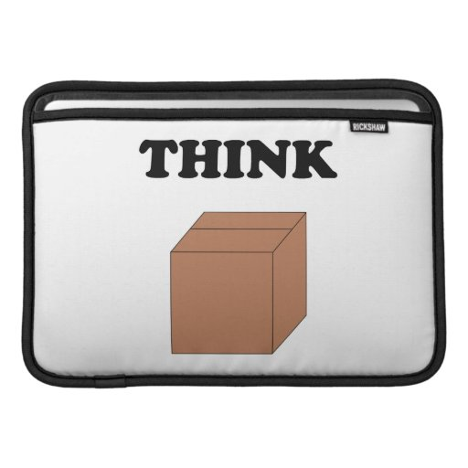 """Think Outside the Box""MB Air11"" Horizontal Sleeve MacBook Air Sleeves"