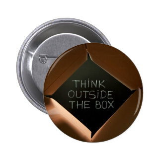 Think Outside The Box on Blackboard.jpg Pinback Button