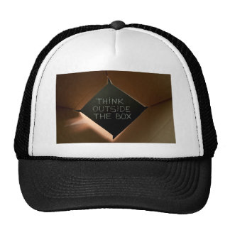 Think Outside The Box on Blackboard.jpg Trucker Hat