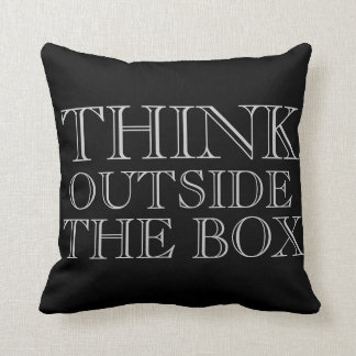 Think Outside the Box Pillow