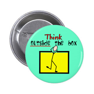 Think Outside the Box Pinback Button