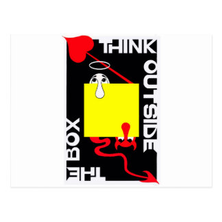 Think Outside the Box Postcard