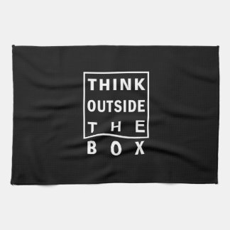 think outside the box smart text quote clever mess tea towel