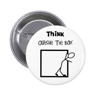 Think Outside The Box T-Shirts Pinback Button