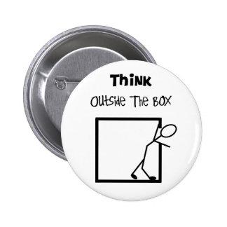 Think Outside The Box T-Shirts Pinback Button