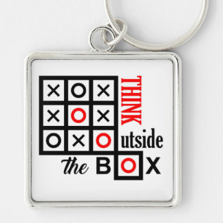 think outside the box tic tac toe extra smart clev key ring
