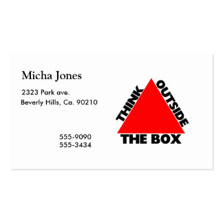 Think Outside The Box With Triangle Business Cards