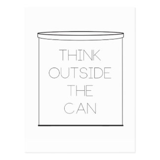 Think Outside The Can post card