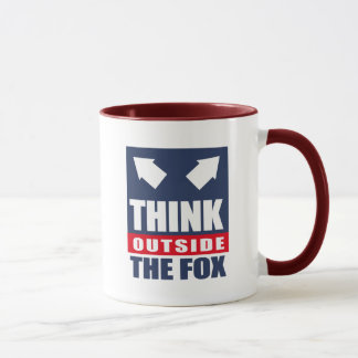 Think outside the fox mug